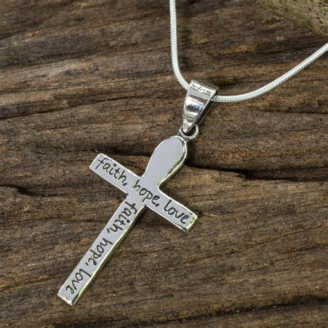Handmade Cross Necklace - handmade s silver cross pendant necklace faith