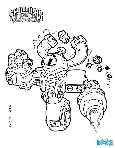 skylanders coloring pages download free printable skylanders swap force here magna charge