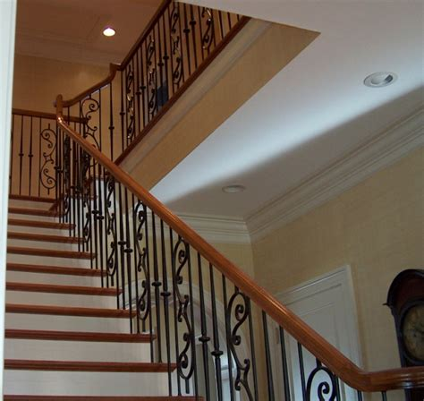 wrought iron stair railing stair rails