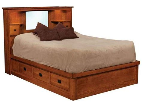 bed courtship mission captain s bed indiana amish bed custom made