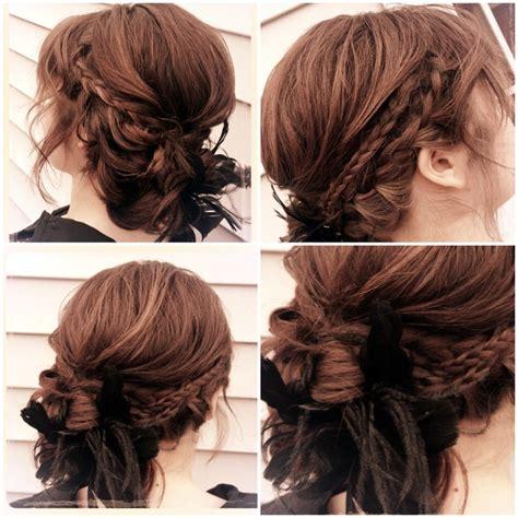 tutorial makeup natural ke kus shabby chic updo romantic loose braided wedding