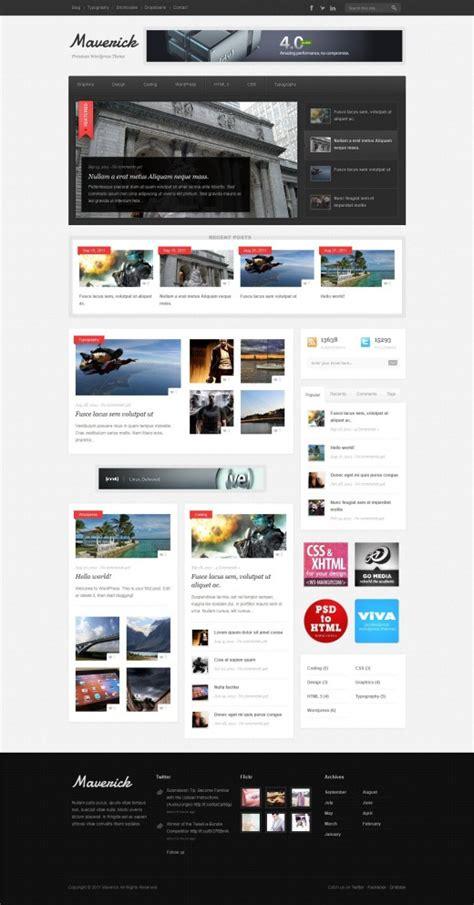 theme ref blog maverick blog and magazine wordpress theme tutorialchip