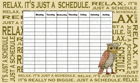 Time Tables by Weekly Timetable Printable Calendar Template 2016
