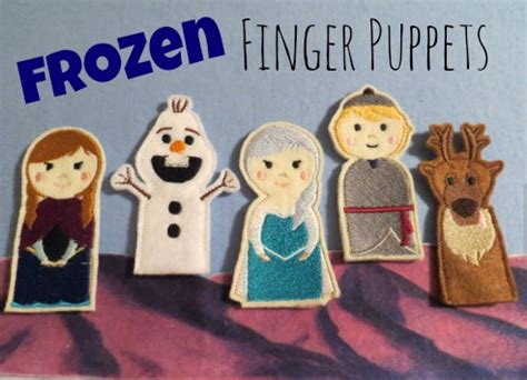 printable frozen finger puppets frozen theme finger puppets frozen a thrifty mom