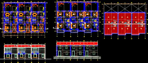 housing project dwg full project  autocad designs cad