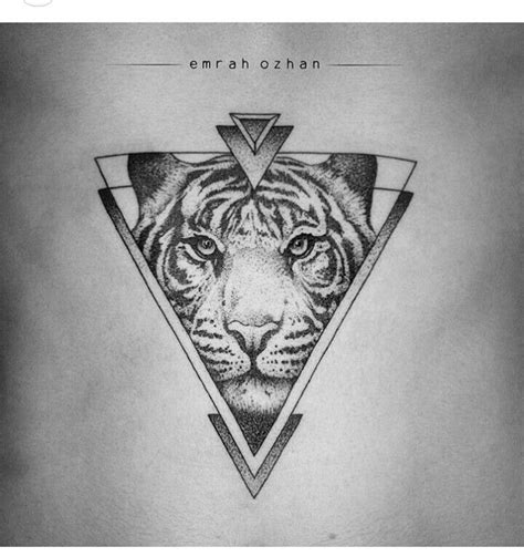 geometric tiger tattoo tiger tattoos geometric