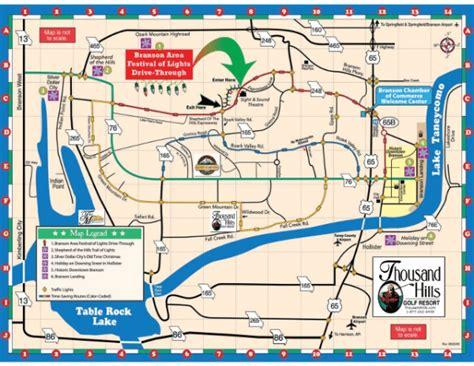 branson christmas lights map thousandhills com