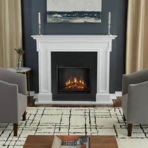 real flame thayer   electric fireplace  white