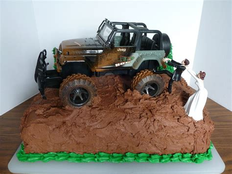 jeep cake topper chocolate groom s cake w jeep cakecentral com