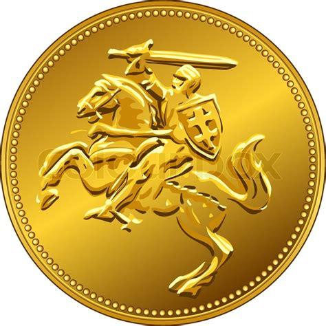 coin lade vektor gold geld m 252 nze mit der lade ritter zu pferd