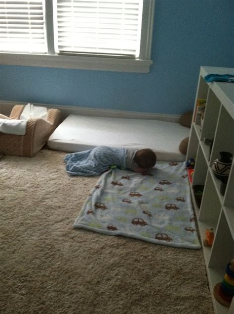 floor bed baby montessori floor bed our son at 6 months during a nap