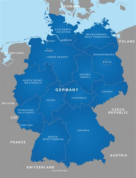 regional map of germany map of germany german states bundesl 228 nder maproom