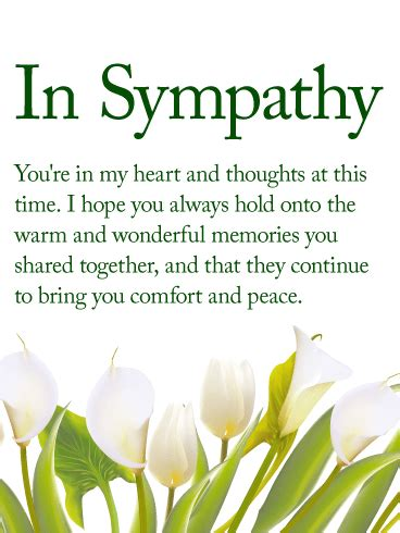 comforting words of sympathy to write in a card you are never alone sympathy card birthday greeting
