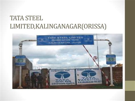 Project On Tata Steel For Mba by Tata Steel Limited Kalinganagar Orissa Three Months In