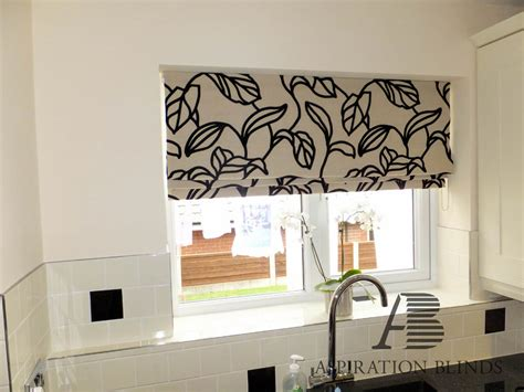 leaf patterned roman blinds made to measure quality blackout roman aspiration blinds