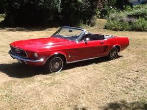 Black Mustang Convertible For Sale 1967 Mustang Convertible Stunning Red With Black Interior