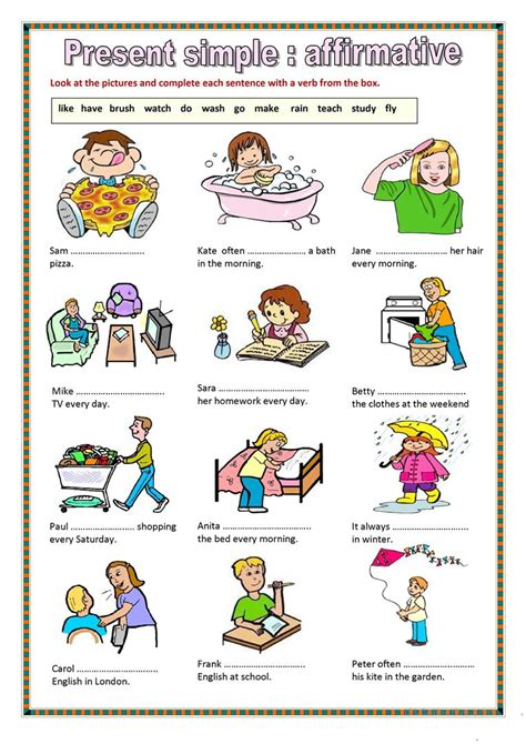 practicing presence simple self care strategies for teachers books present simple affirmative worksheet free esl