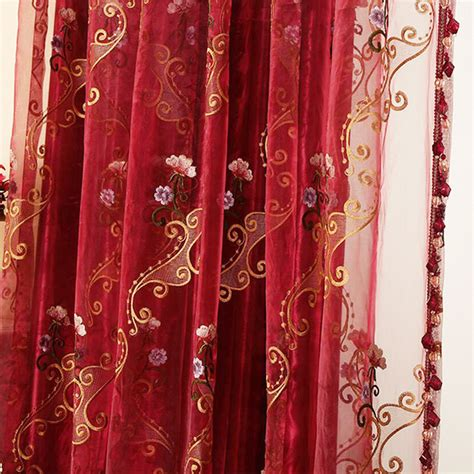 red sheer curtain panels red sheer curtains 28 images red western sheer