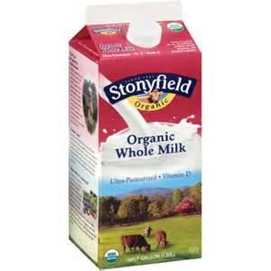 stonyfield organic whole milk 64 fl oz
