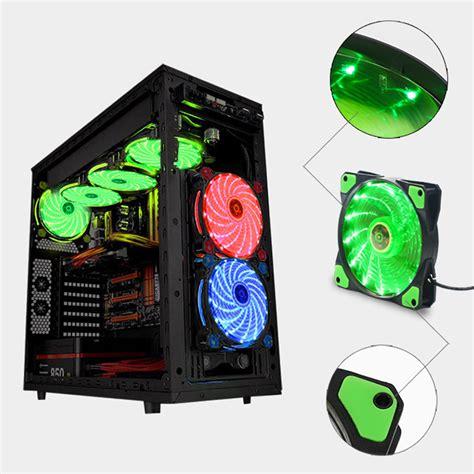 Fan Casing Lu 12x12cm aliexpress buy 12x12cm 25mm pc computer 21 1dba ultra silent 15 led 12v fan heatsink
