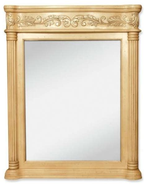 Lyn Design Antique Ornate 33 11 16 X 42 Antique White Mirror Victorian Bathroom