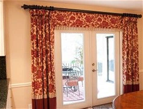 how to hang french door curtains how to hang curtains over french doors home decor