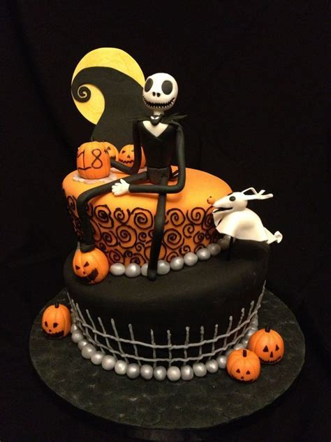 nightmare before christmas themed cake we could do this