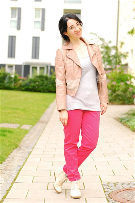 h m light pink blazer light pink leather h m jackets salmon chino zara pants
