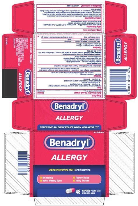 benadryl dosage benadryl allergy
