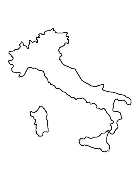 italy map outline printable italy pattern use the printable outline for crafts