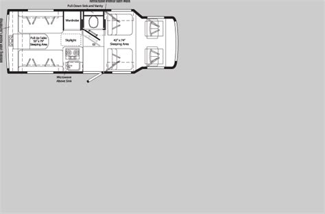 rialta motorhome floor plans winnebago rialta floor plans winnebago rialta floor