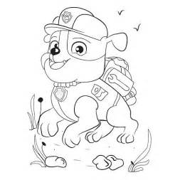 rubble paw patrol coloring page rubble pup patrol coloring pages