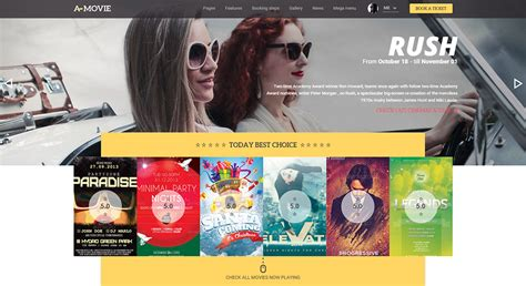 theme exles of movies 19 best filmmakers website templates free premium