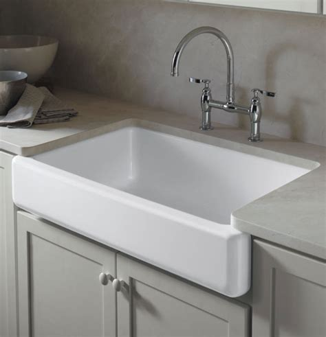 kohler farm sink 33 kohler k 6489 0 whitehaven self trimming apron front
