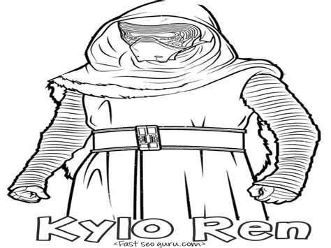 printable coloring pages of kylo ren freecoloring4u com coloring pages star wars the force awakens kylo ren