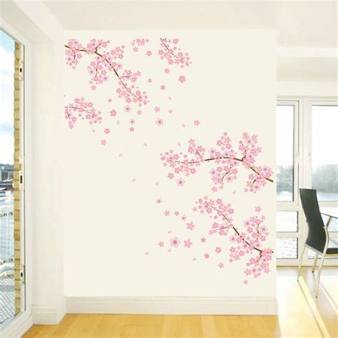 plum home decor us flower wall stickers blossom removable wall decal