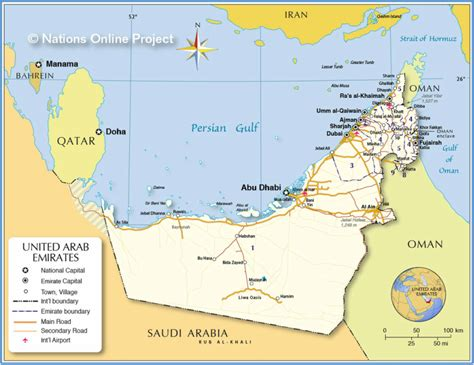 dubai geography map geography and enviornment uae