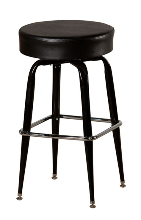 Large Bar Stools large seat swivel backless bar stool w black frame
