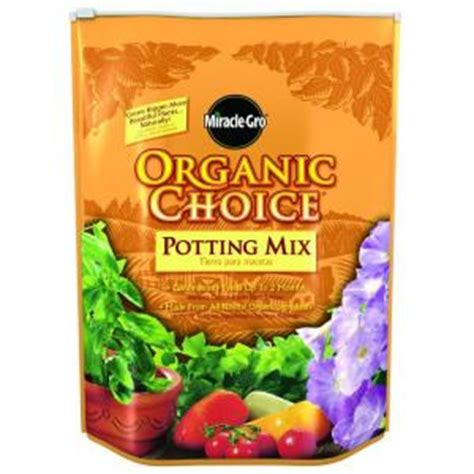 miracle gro 8 qt organic choice potting mix 72978650