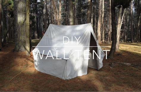 how to build a tent diy wall tent doovi