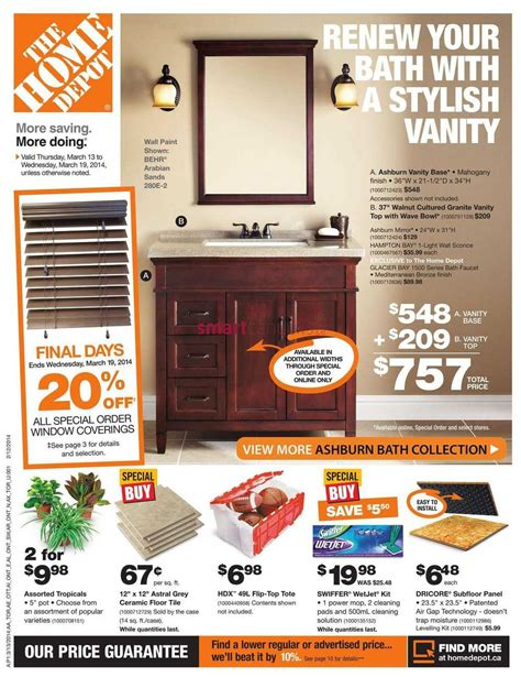 home depot on flyer march 13 to 19