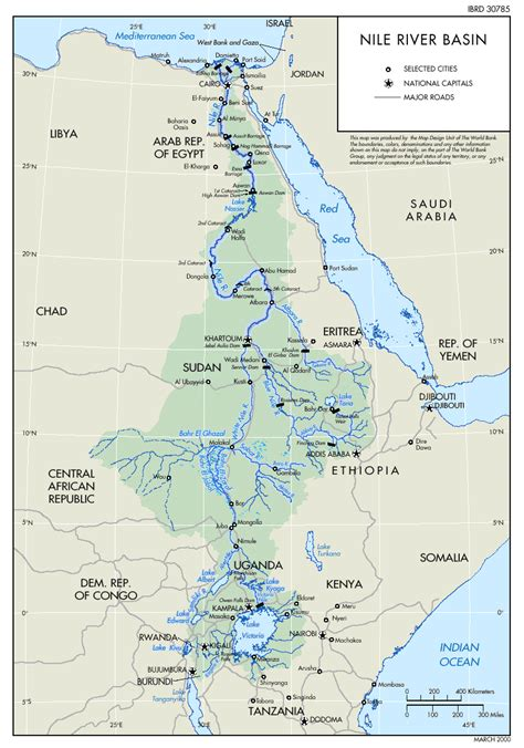 river map nile river map