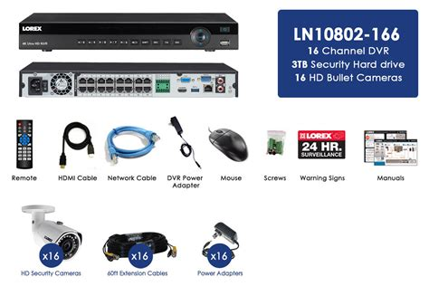 ip security 2k ip security system with 16 channel nvr and 16 hd
