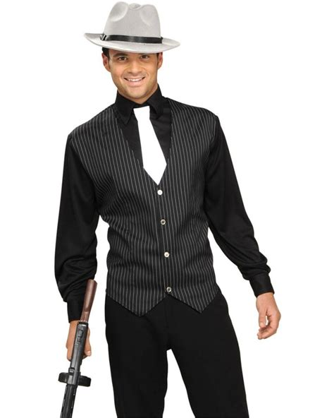 mens 20s costumes costume discounters gangster shirt vest and tie mens costume 1920s