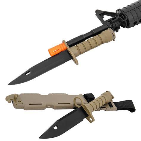 m16 bayonet airosft m9 rubber bayonet for m4 m16 carbine rifles finish