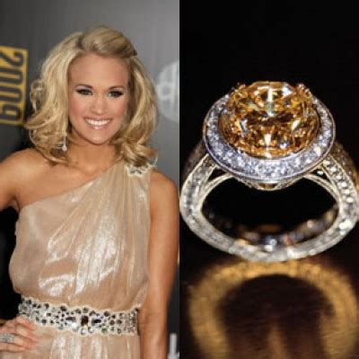 carrie underwood yellow engagement ring uneek