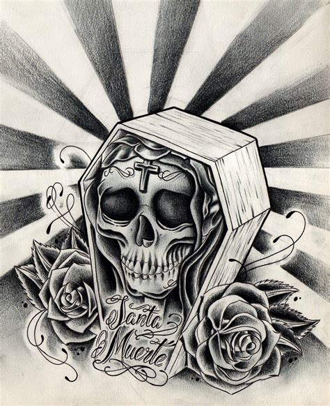 santa muerte tattoo design santa muerte by willemxsm on deviantart