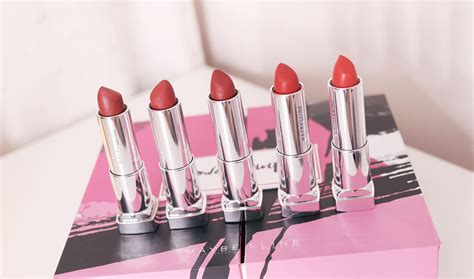 Maybelline The Powder Matte Lipstick swatches of all maybelline powder mattes lipsticks my top 5 shades of all you see
