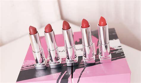 Maybelline Power Matte swatches of all maybelline powder mattes lipsticks my