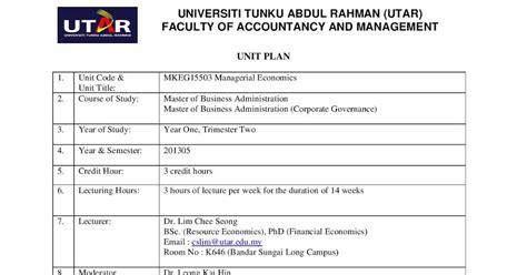 Utar Mba by Utar Part Time Mba Study Diary Mkeg15503 Managerial